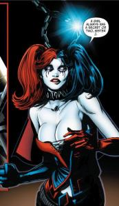 This is NOT the harlequin outfit. Apparently Harley doesn't even need clothes any more.