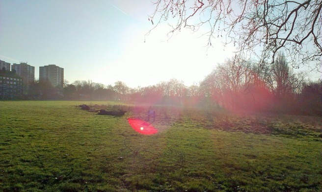 It was such a pleasant day that even the Eye of Sauron took a break and chilled out in the park for a while.