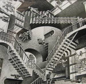 Yeah, Escher, all right. You told me so.