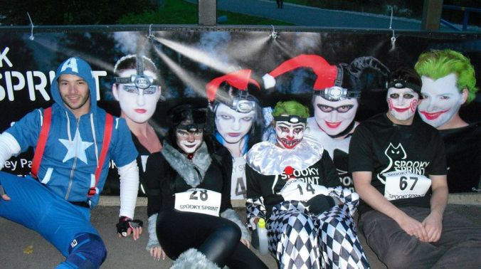 Halloween races are SO much fun, and we were literally the poster children for the second one.